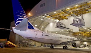Boeing 737-800 for Copa Airlines leaves the paint shop in Renton