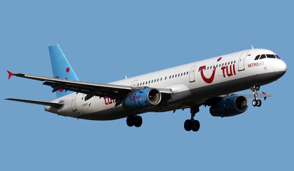 MetroJet Airbus A321 on behalf of tour operator TUI