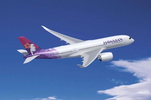 Artist impression of Hawaiian Airbus A350-800