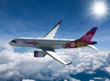 Bombardier CS100 in the livery of Flymojo (© Bombardier)