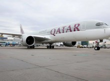 Qatar Airways A350-900 at Frankfurt Airport