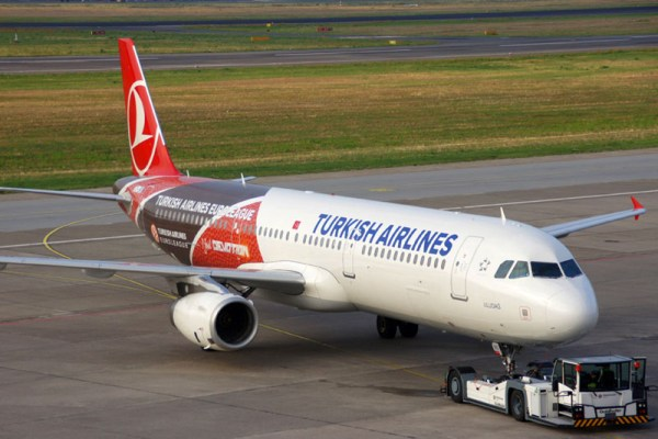 Turkish Airlines Airbus A321 in special Euroleague livery (© O. Pritzkow)