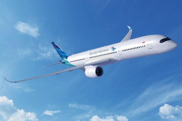 Airbus A350-900 XWB in the livery of Garuda Indonesia (© Airbus)