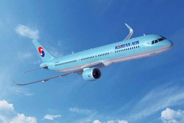 Airbus A321neo in the livery of Korean Air (© Airbus)