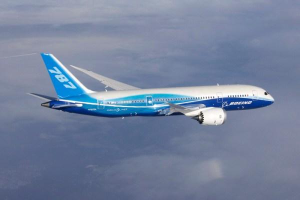 Boeing 787-8 in flight (© Boeing)