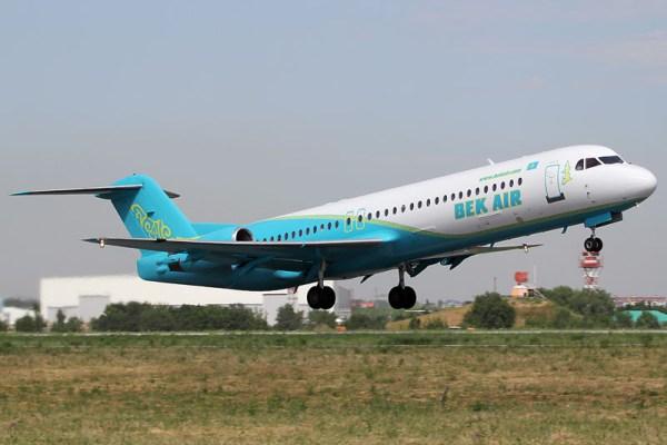 Bek Air Fokker 100 (© A. Ignatyev)