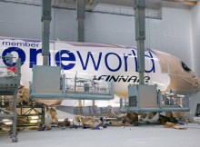 Finnair's second Airbus A350 XWB is painted into Oneworld livery (© Airbus)