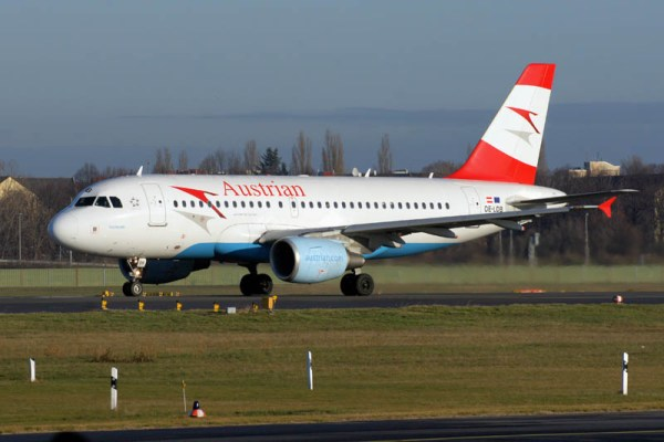 Airbus A319 der Austrian Airlines (© O. Pritzkow)