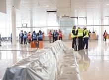 Probebetrieb auf der Satellitenbaustelle am Flughafen München (© FMG, N. Nedamaldeen)