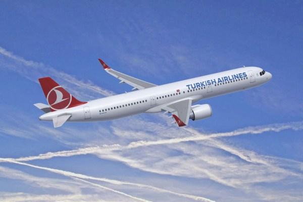 Airbus A321neo in den Farben der Turkish Airlines (© Airbus)