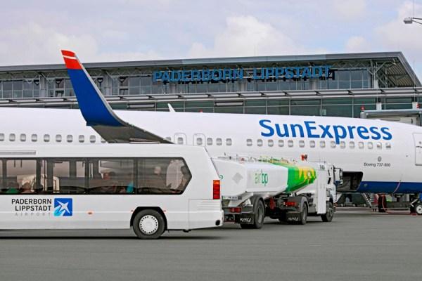 SunExpress am Flughafen Paderborn-Lippstadt (© PAD Airport)