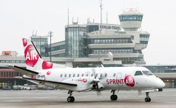 Saab 340B der Sprint Air am Flughafen Berlin-Tegel (© FBB)