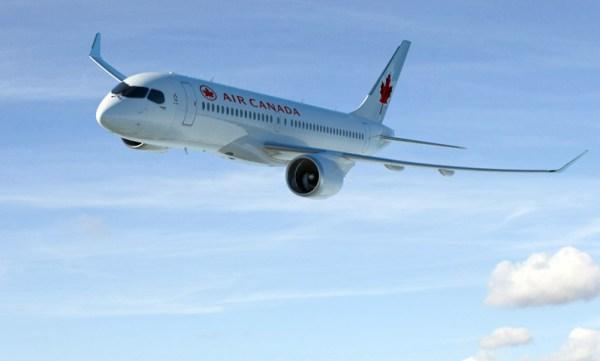 Bombardier CS300 in den Farben der Air Canada (© Bombardier)