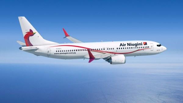 Boeing 737 MAX 8 in den Farben der Air Niugini (© Boeing)