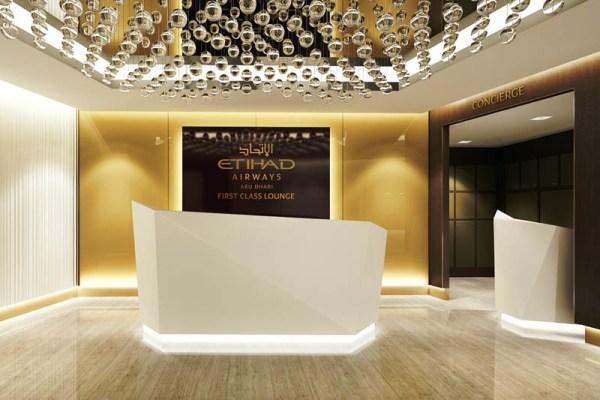 Lobby der neuen Etihad First Class Lounge in Abu Dhabi (© Etihad)