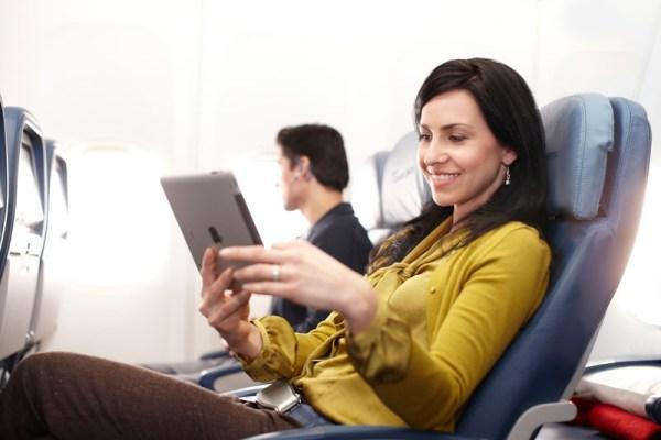Internet-Zugang via iPad (© Delta Air Lines)