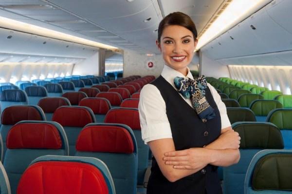 Economy-Kabine bei Turkish Airlines (© THY)