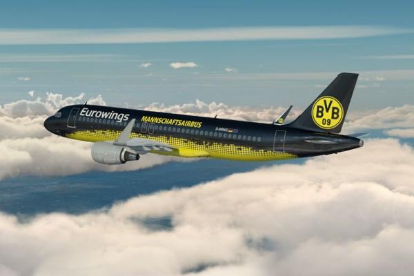 BVB-Mannschaftsairbus der Eurowings