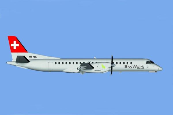 Saab 2000 bei Skywork