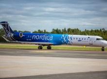 CRJ900 der Nordica (Foto: Hamburg Airport)