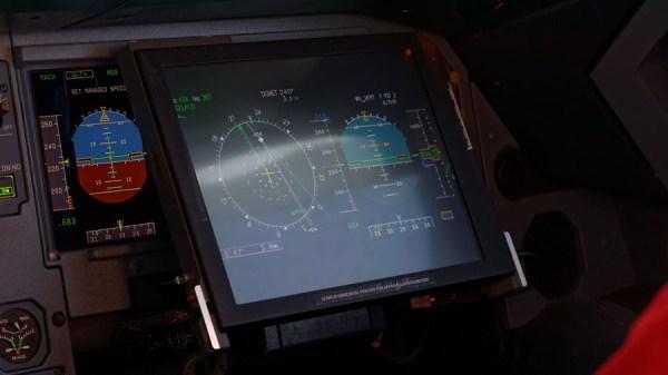 Display des Wirbelschleppenwarnsystems (© DLR)