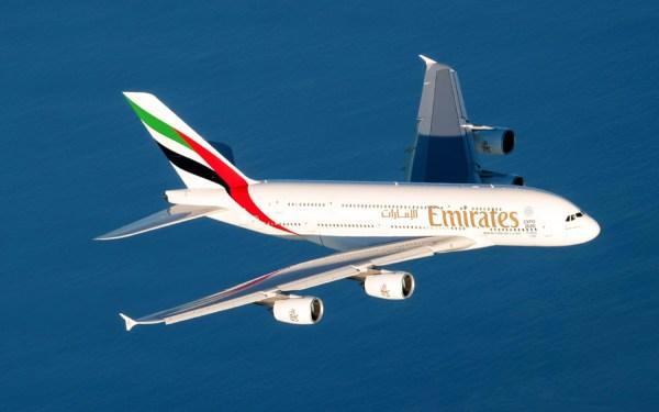 Emirates Airbus A380 im Flug (© Emirates)