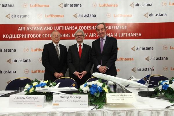 Codeshare Agreement Air Astana und Lufthansa