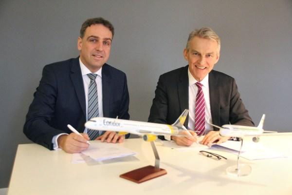 Karsten Balke, CEO Germania (links), und Ralf Teckentrup, Geschäftsführer Condor (rechts)