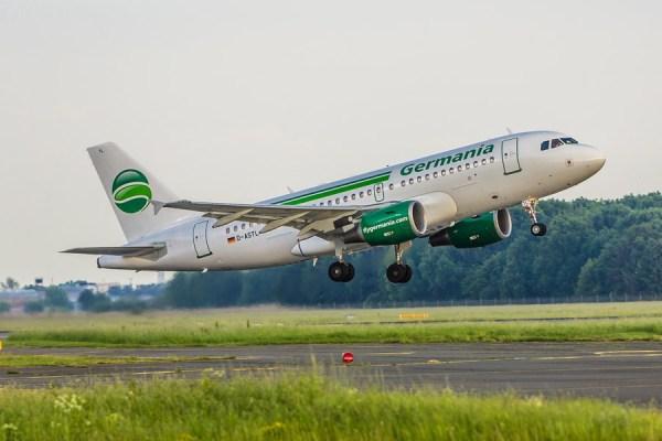 Airbus A319 der Germania (© K. Kiessling/Germania)