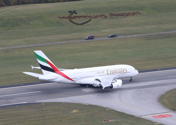 Emirates setzt den A380 jetzt auch regulär nach Hamburg ein. (Foto: HAM Airport)