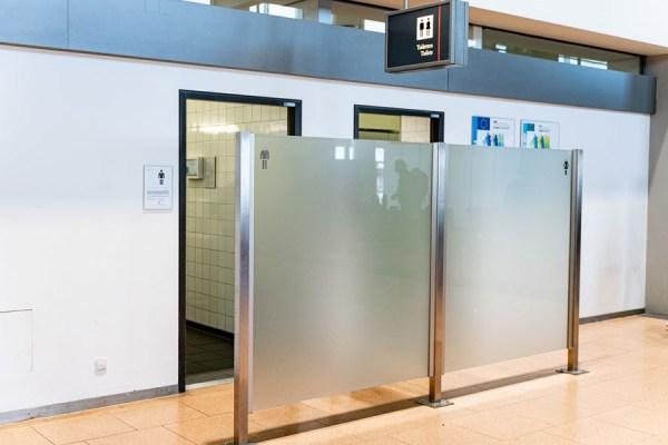 Kontaktlose Sanitäranlagen im Hamburger Flughafen (Foto: O. Sorg/HAM Airport)