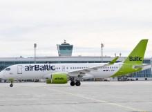 Air Baltic am Flughafen München (Foto: FMG)