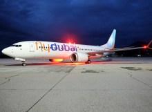 Boeing 737 MAX der flyDubai (Foto: Salzburg Airport)