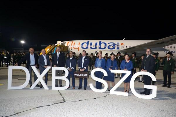 Eröffnung der Verbindung Dubai-Salzburg am 15.7.2021 durch flyDubai (Foto: Salzburg Airport)