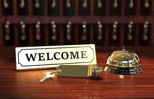 Welcome Hotel Schlüssel und Glocke