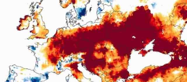 The climate crisis dries out Europe