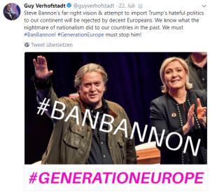 Verhofstadt-ALDE-Steve Bannon Tweet
