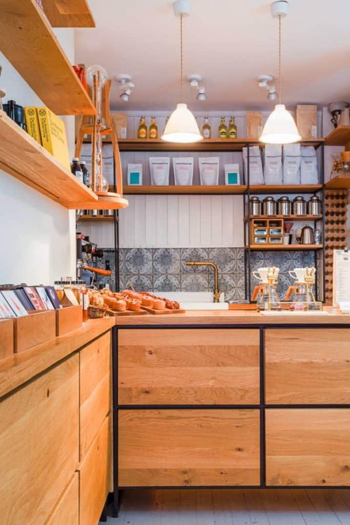 the bar at Coffeewerk + Press, Galway