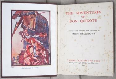 Cover of The adventures of Don Quixote, adapted by Emily Underdown (Waddleton.d.9.1174)