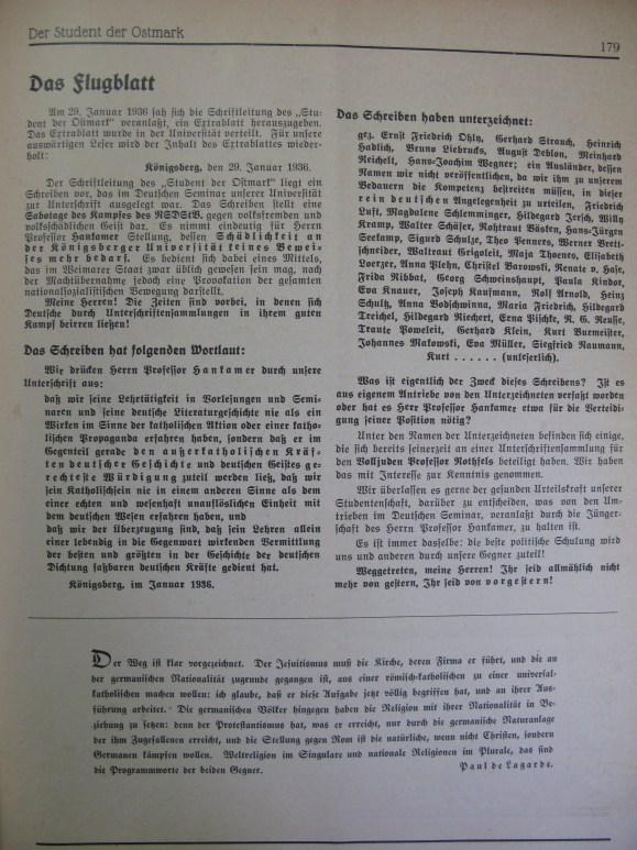 NS-Studentenbund denunciation
