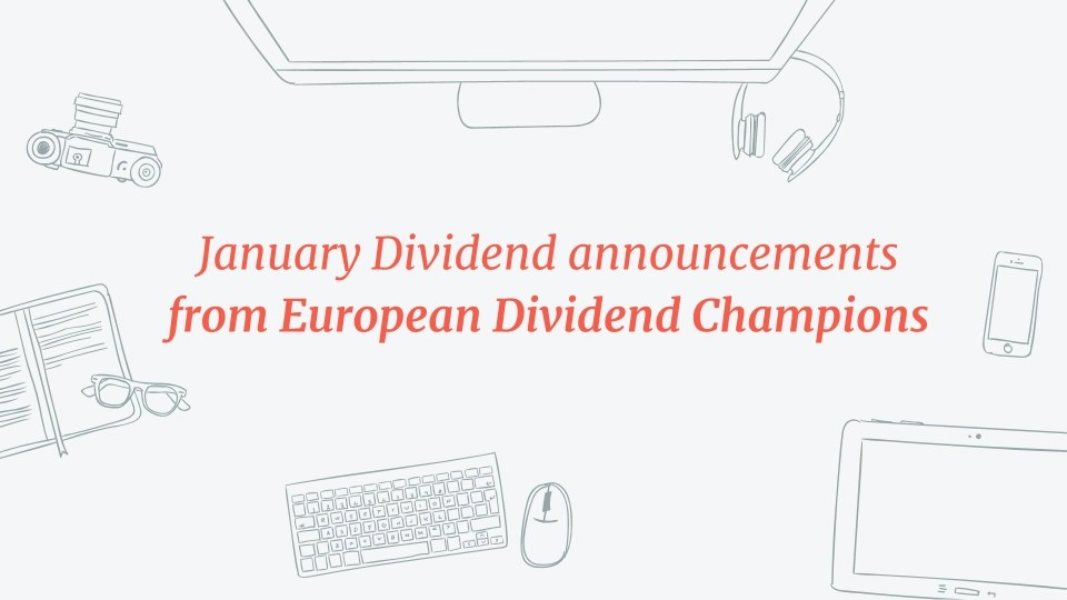 Read more about the article 10 January Dividend announcements from European Dividend Champions