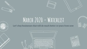 Read more about the article March Watchlist