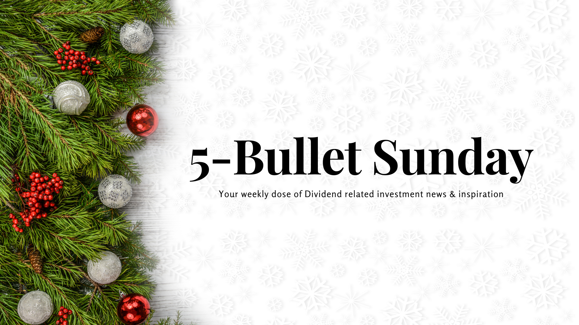 Read more about the article 5-Bullet Sunday #50