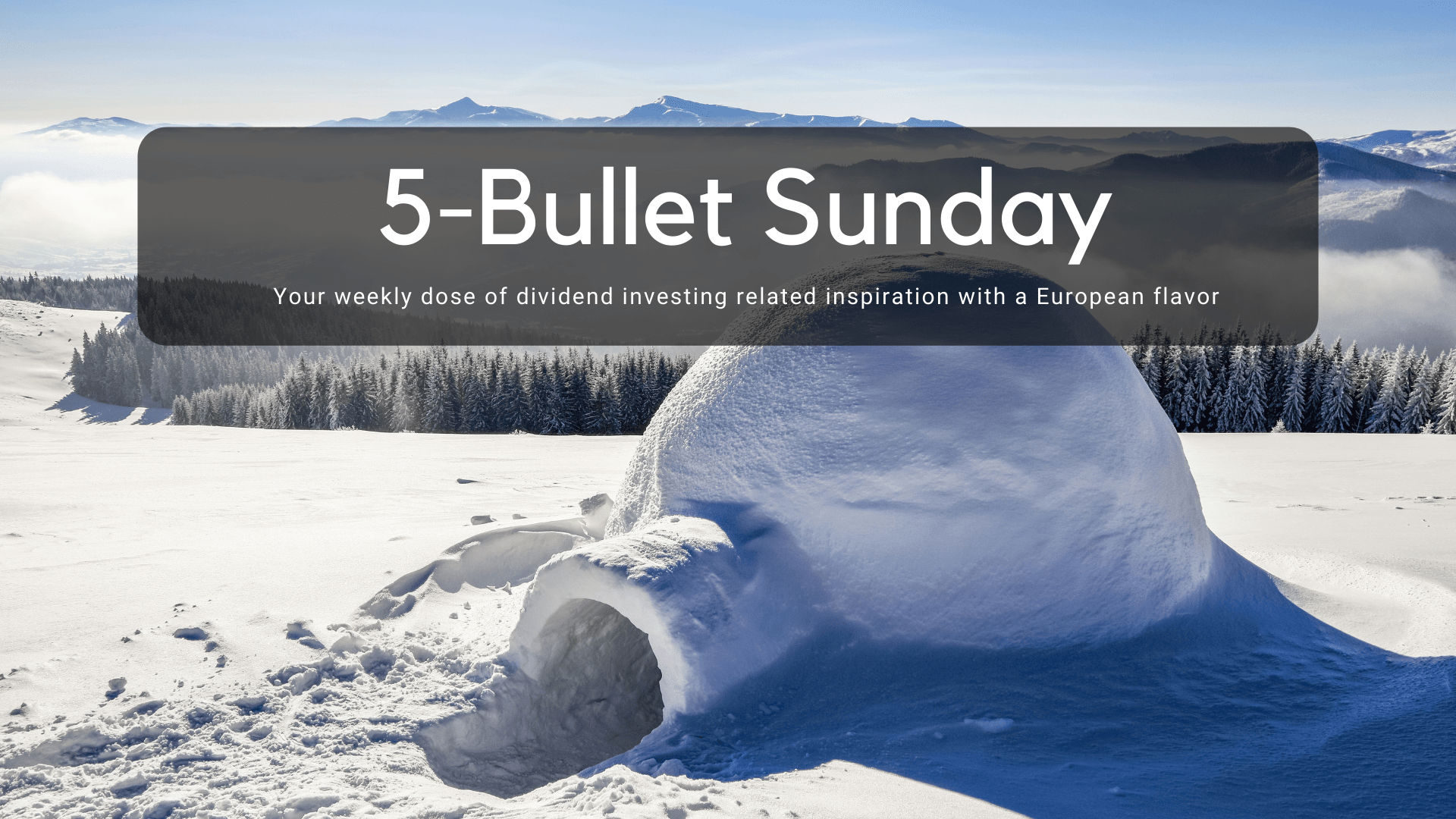 Read more about the article 5-Bullet Sunday #55