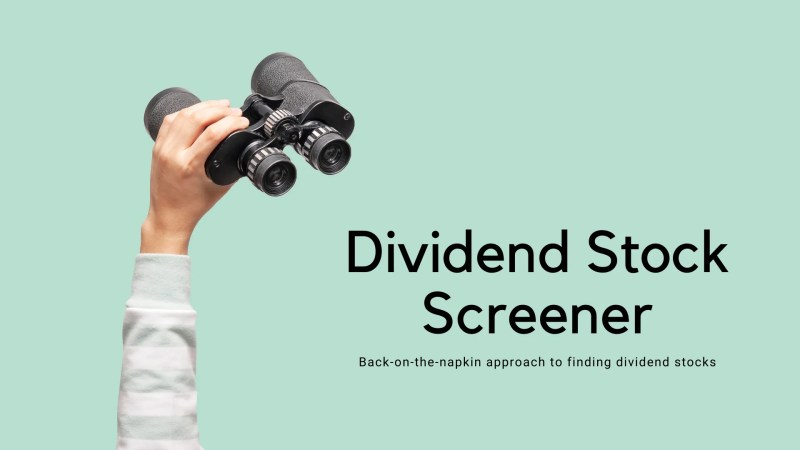 Dividend Stock Screener