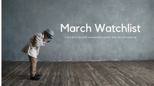 Read more about the article March Watchlist [5 DGI stocks]