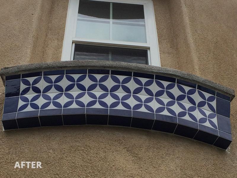 exterior window trim tile design