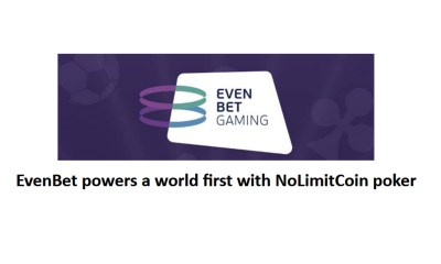 EvenBet powers a world first with NoLimitCoin poker