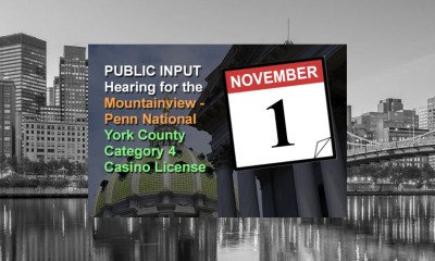 PGCB to Hold Public Input Hearing in Springettsbury Township on November 1st for Penn National's Category 4 Casino Application in York County
