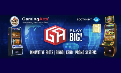 "Gaming Arts Showcases New Products and Demonstrates its Ability to ""Play BIG!"" at G2E 2018"